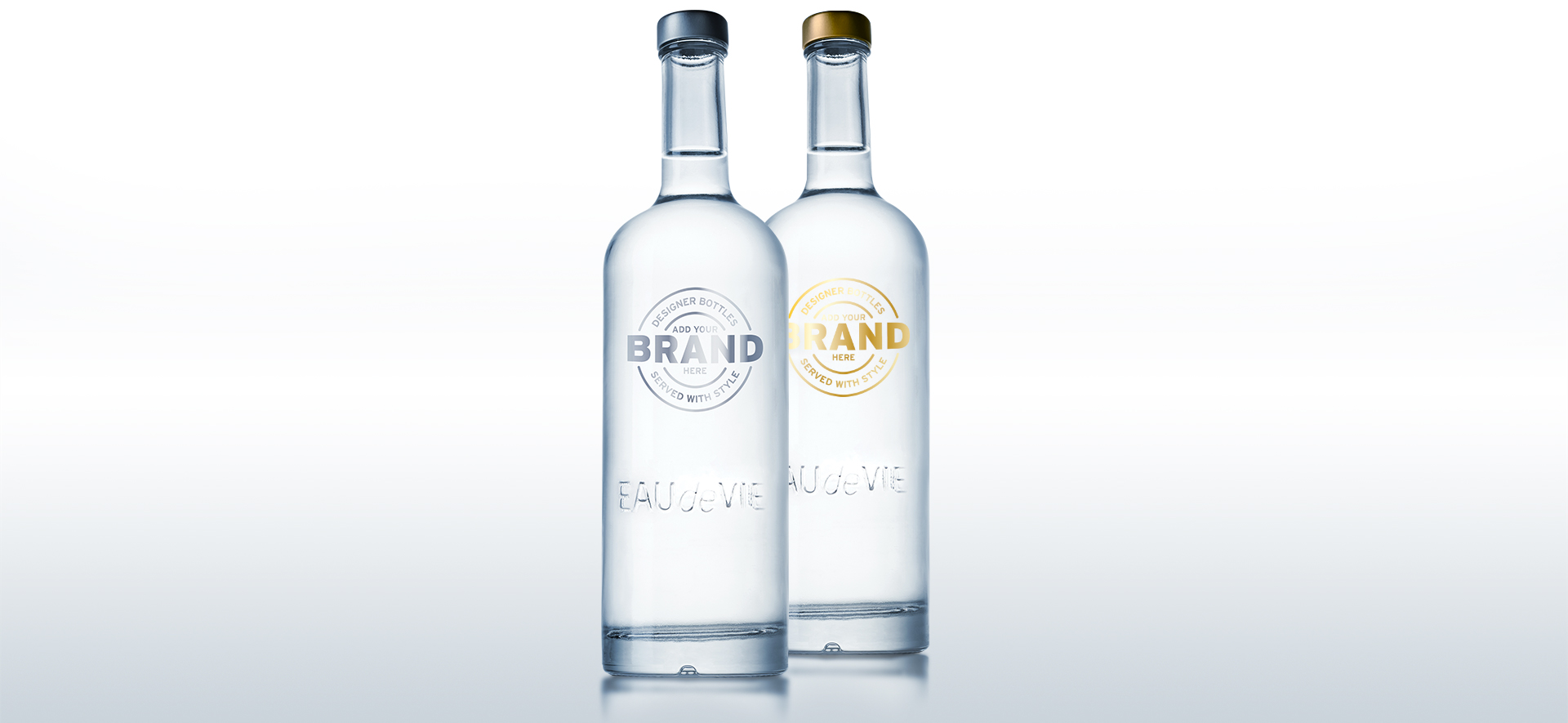Eau de Vie customisable bottles