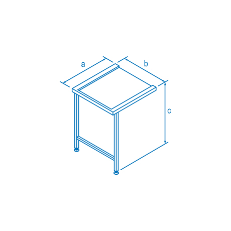 650mm Entry & Exit Table for Classeq Warewashers