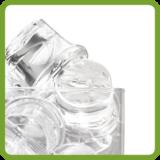 Shot style cube ice