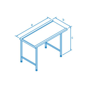 1100mm Entry & Exit Table for Classeq Warewashers