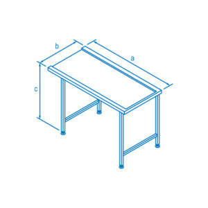 1100mm Right Hand Entry & Exit Table for Classeq Warewashers