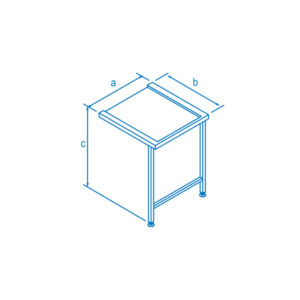 650mm Right Hand Entry & Exit Table for Classeq Warewashers